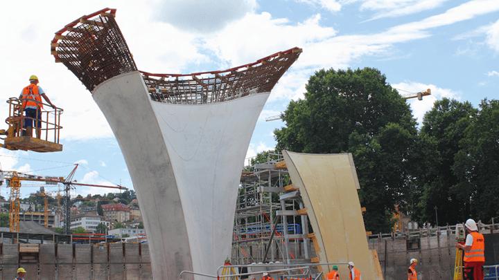 Geomonitoring durch präzise Sensorik beim Bau des Tiefbahnhofes Stuttgart