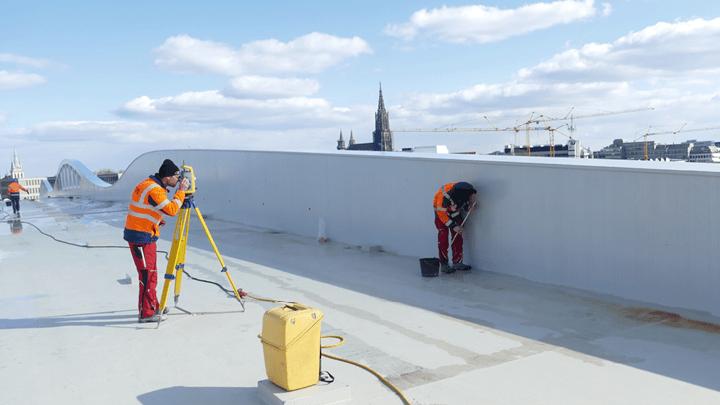 Bauvermessung und Geomonitoring von Brücken mit Gleisen
