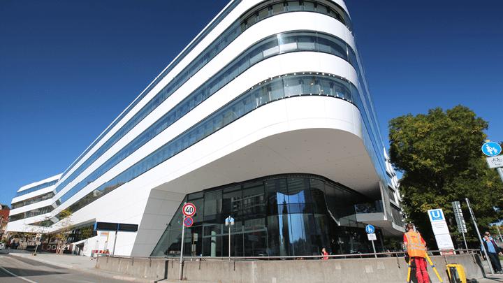 Bauvermessung und baugeometrische Beratung des Verbandsgebäudes Look 21 im Stuttgarter Zentrum