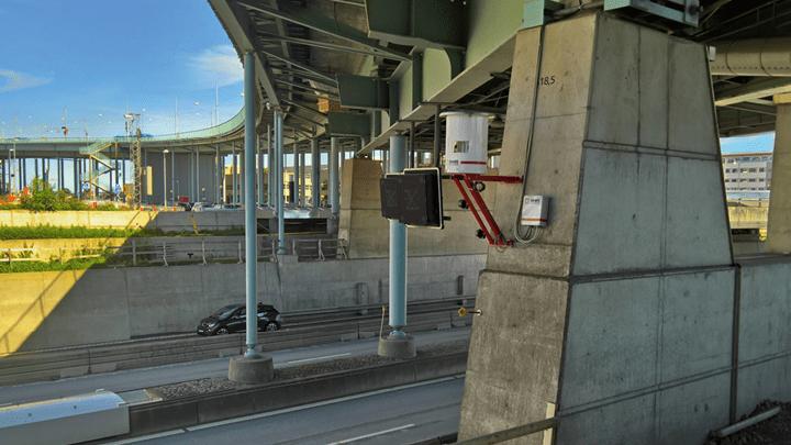 Geomonitoring mit Sensorik stark befahrender Brücke in Göteborg