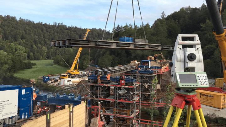 Vermessung von Gleisbrücken für die Instandhaltung und Sanierung sowie baugeometrische Beratung