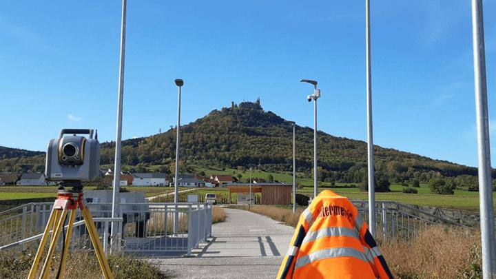 Vermessung und baugeometrische Beratung vom Hochwasserrückhaltebecken Hechingen