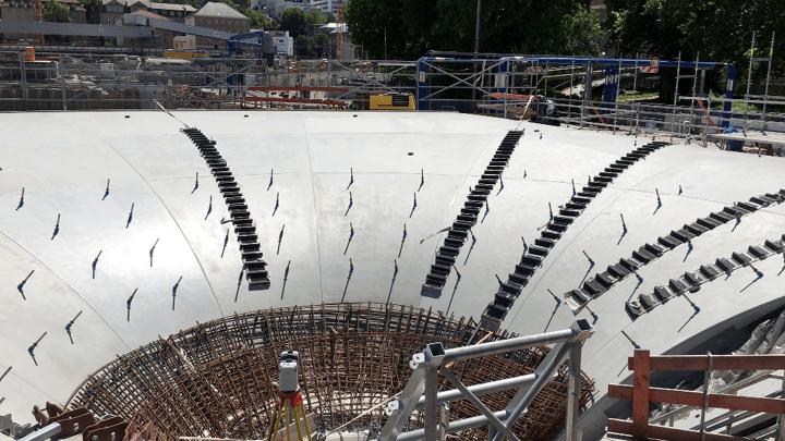 Vermessung und Planungsbegleitung beim Bau der Kelchstützenschalung des Stuttgarter Tiefbahnhofes