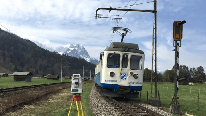 Vermessung bei Erneuerung der Bahnstrecken der Bayerischen Zugspitzbahn und Verdichtung des Festpunktefeldes